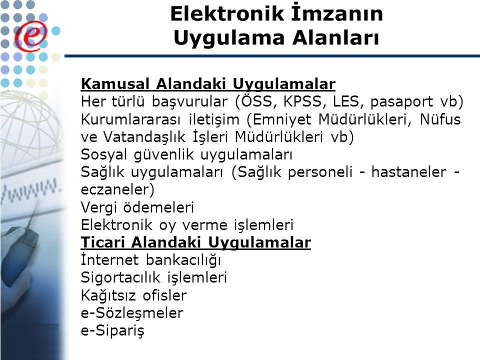 Elektronik İmzanın Uygulama Alanları