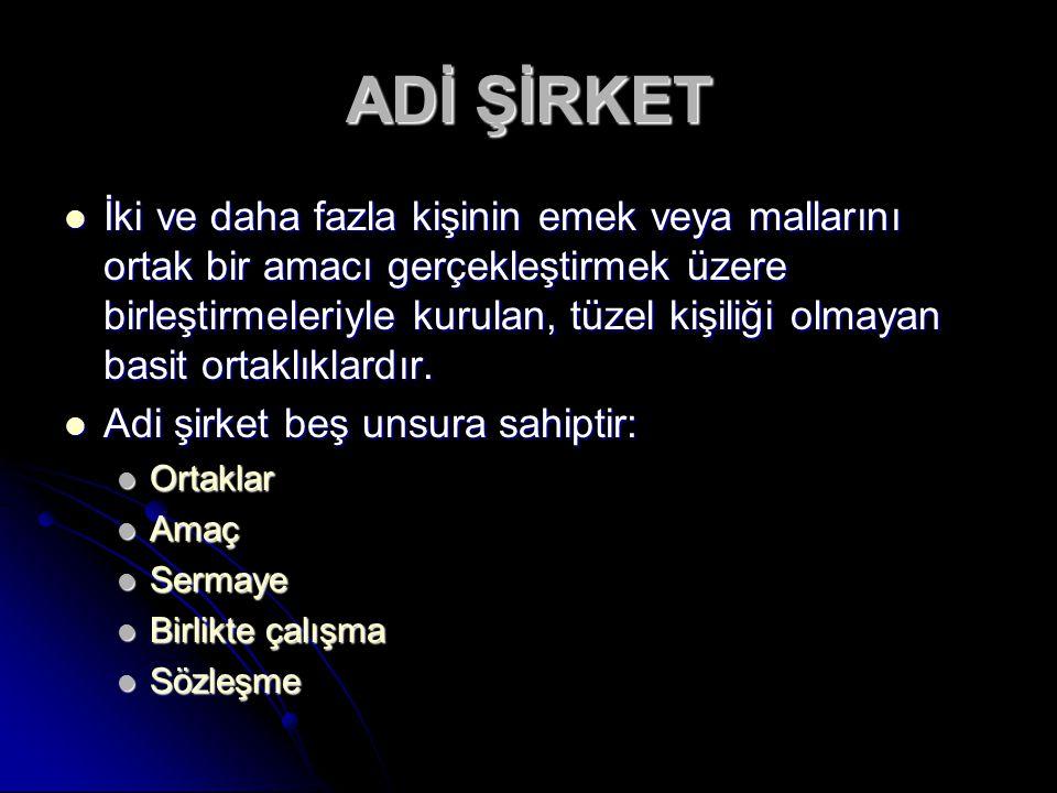 ADİ ŞİRKET