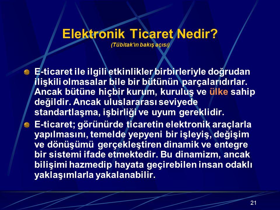 Elektronik Ticaret Nedir (Tübitak ın bakış açısı)