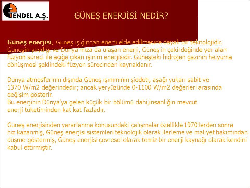 GÜNEŞ ENERJİSİ NEDİR Güneş enerjisi, Güneş ışığından enerji elde edilmesine dayalı bir teknolojidir.