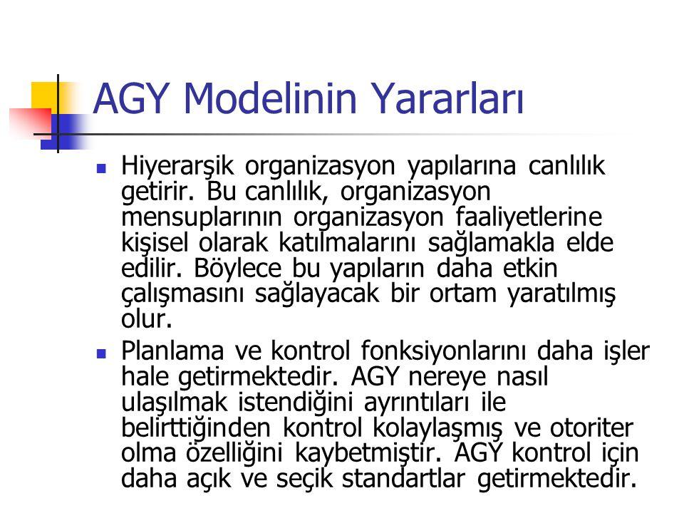 AGY Modelinin Yararları
