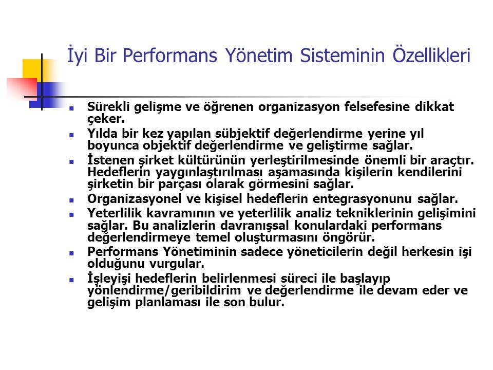 İyi Bir Performans Yönetim Sisteminin Özellikleri