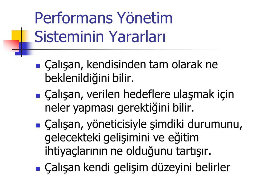 Performans Yönetim Sisteminin Yararları
