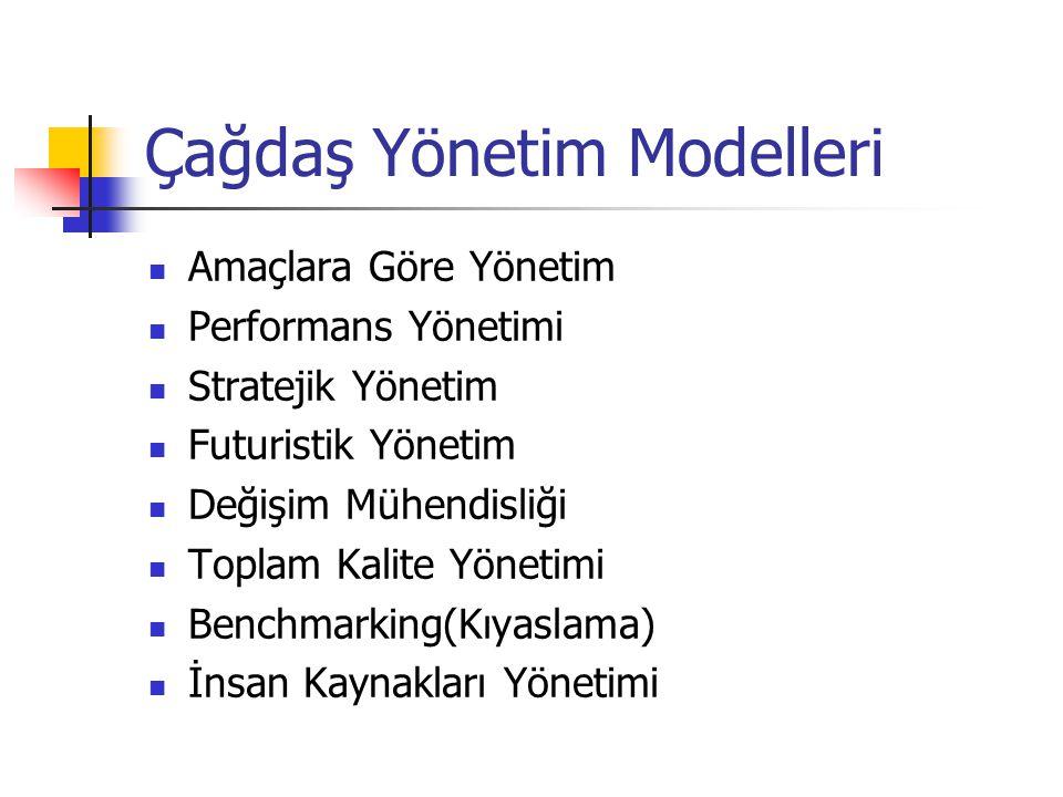 Çağdaş Yönetim Modelleri
