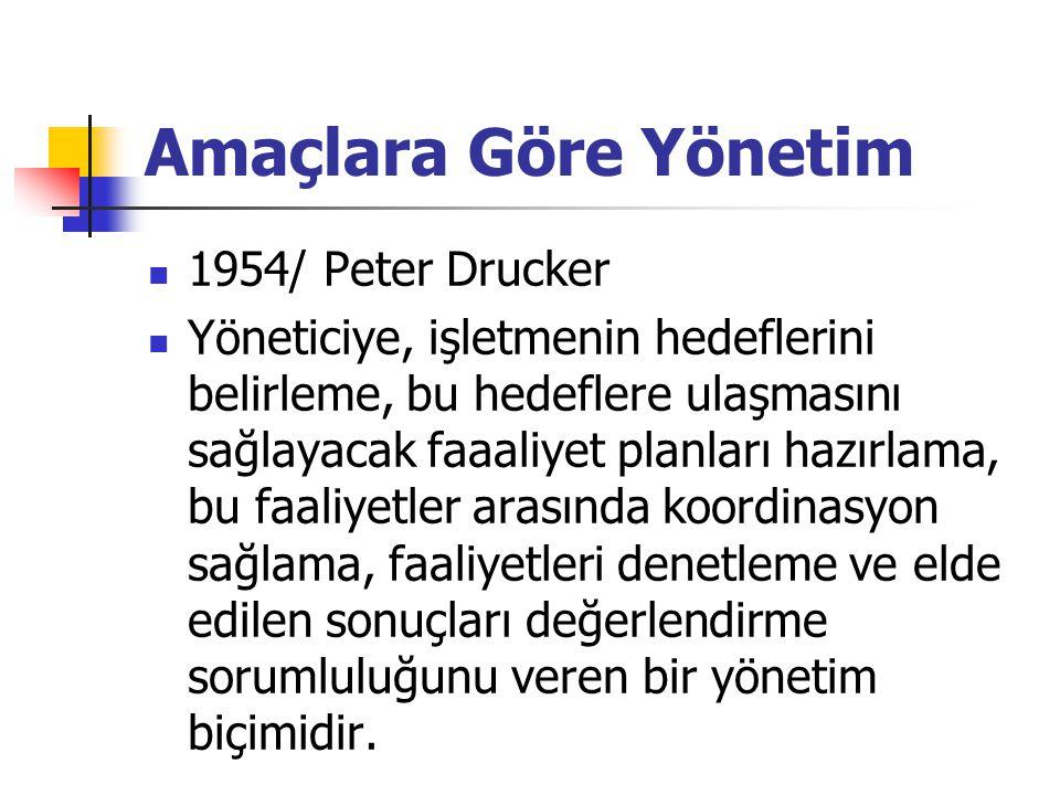 Amaçlara Göre Yönetim 1954/ Peter Drucker