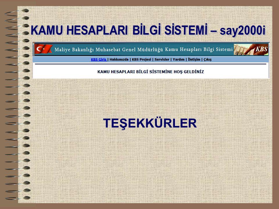 KAMU HESAPLARI BİLGİ SİSTEMİ – say2000i