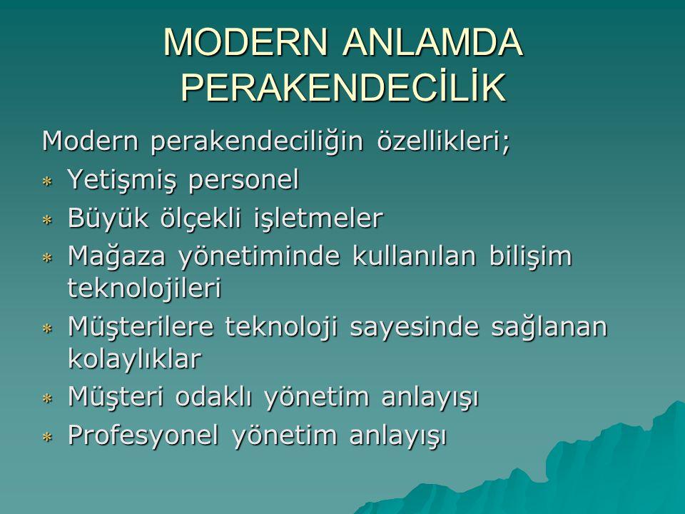 MODERN ANLAMDA PERAKENDECİLİK