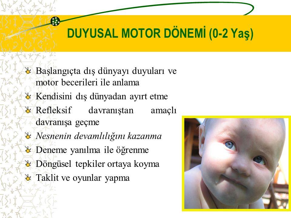 DUYUSAL MOTOR DÖNEMİ (0-2 Yaş)