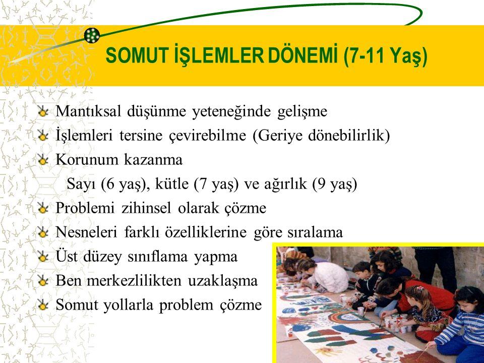 SOMUT İŞLEMLER DÖNEMİ (7-11 Yaş)