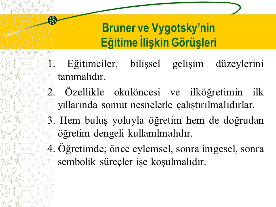 Bruner ve Vygotsky'nin Eğitime İlişkin Görüşleri