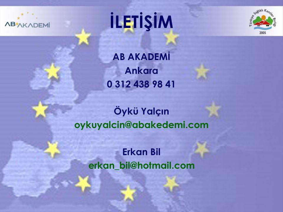 İLETİŞİM AB AKADEMİ Ankara 0 312 438 98 41 Öykü Yalçın