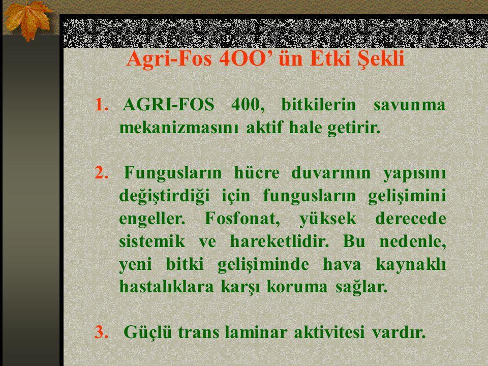 Agri-Fos 4OO' ün Etki Şekli