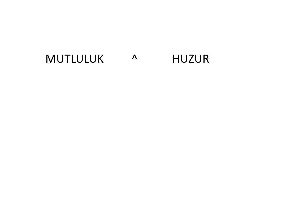 MUTLULUK ^ HUZUR