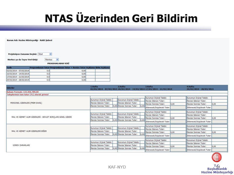 NTAS Üzerinden Geri Bildirim