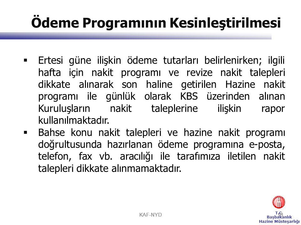 Ödeme Programının Kesinleştirilmesi
