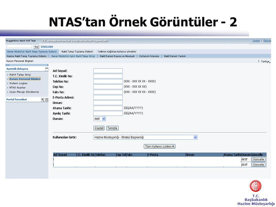 NTAS'tan Örnek Görüntüler - 2