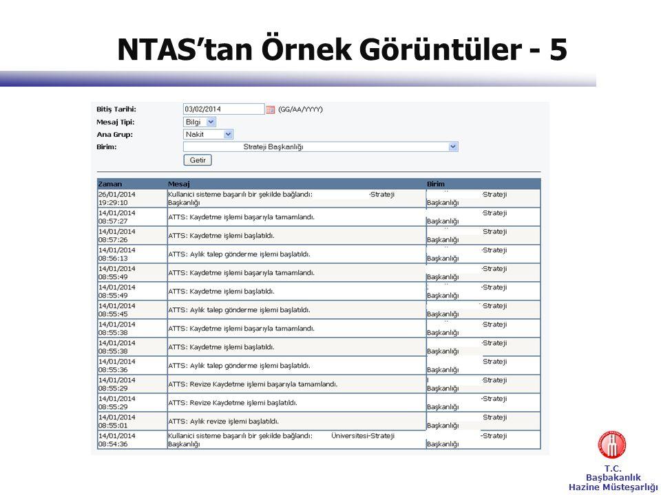 NTAS'tan Örnek Görüntüler - 5
