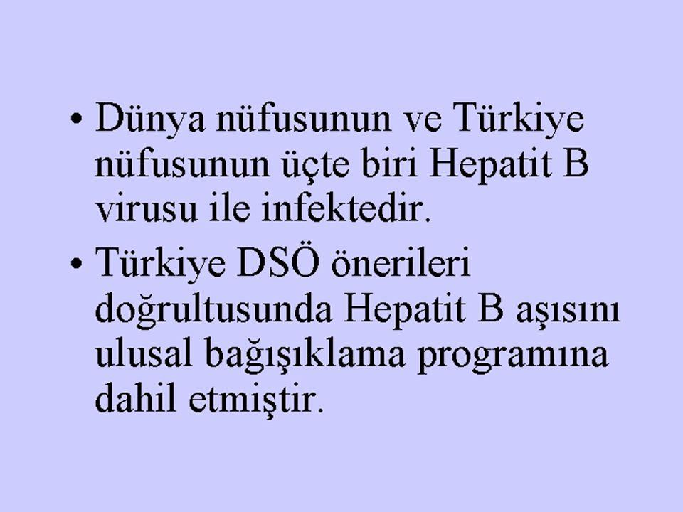 Dünya nüfusunun ve Türkiye nüfusunun üçte biri Hepatit B virusu ile infektedir.