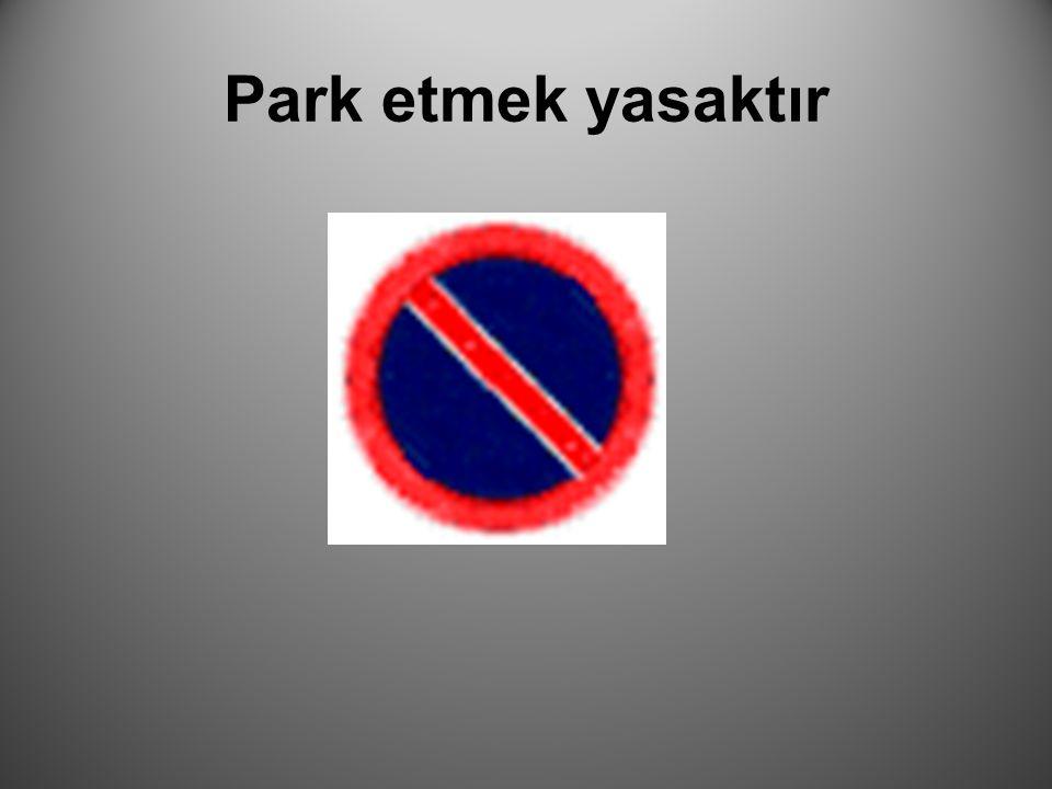 Park etmek yasaktır