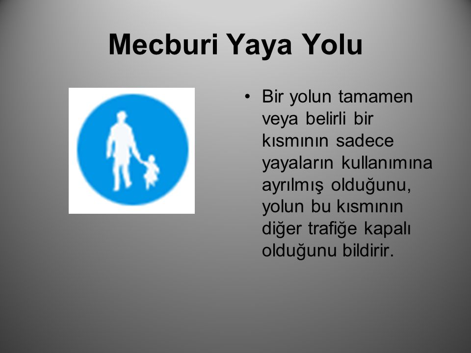 Mecburi Yaya Yolu
