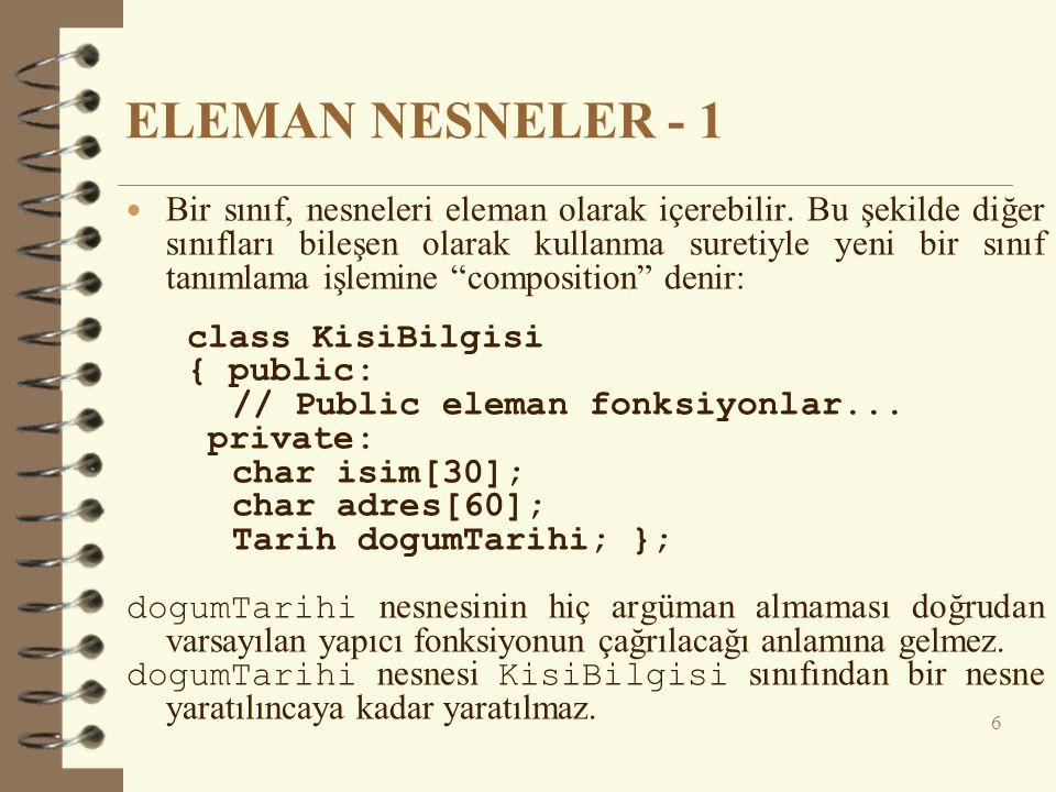 ELEMAN NESNELER - 1