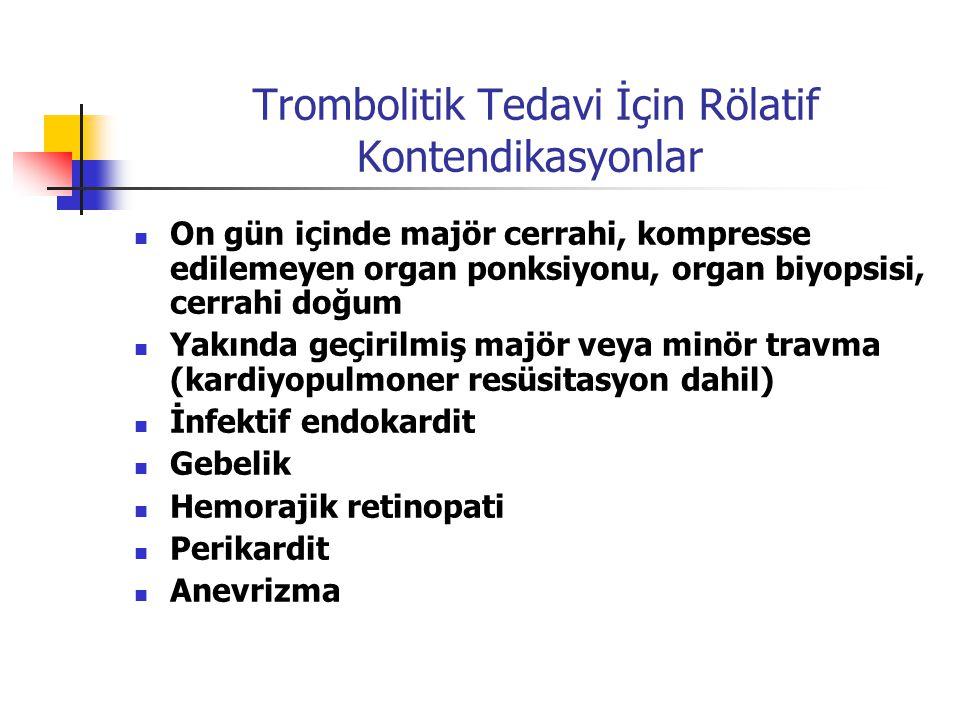 Trombolitik Tedavi İçin Rölatif Kontendikasyonlar