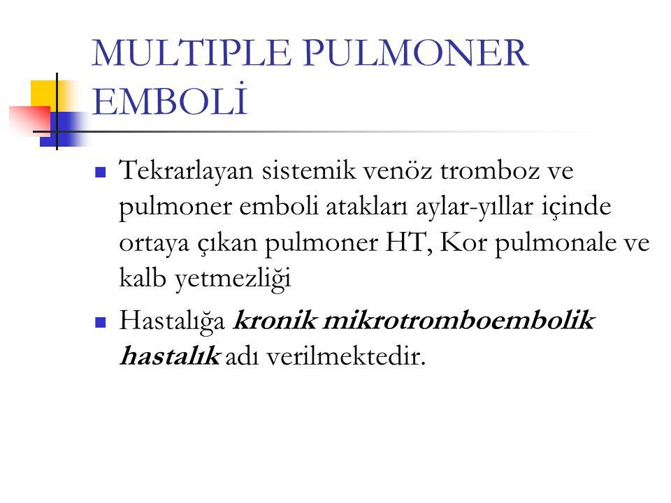 MULTIPLE PULMONER EMBOLİ