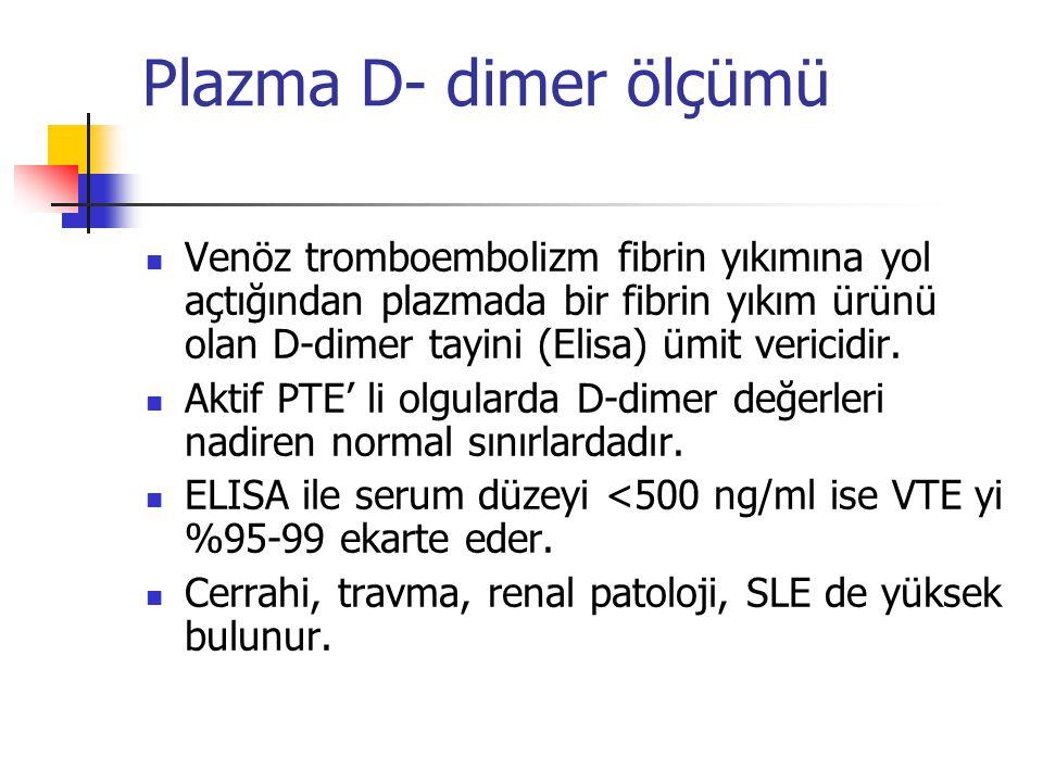Plazma D- dimer ölçümü