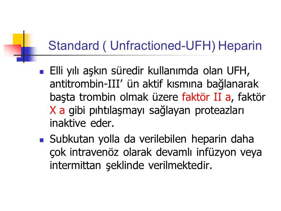 Standard ( Unfractioned-UFH) Heparin