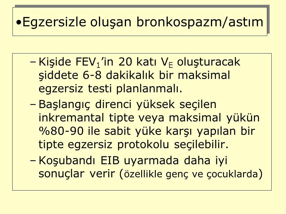 Egzersizle oluşan bronkospazm/astım