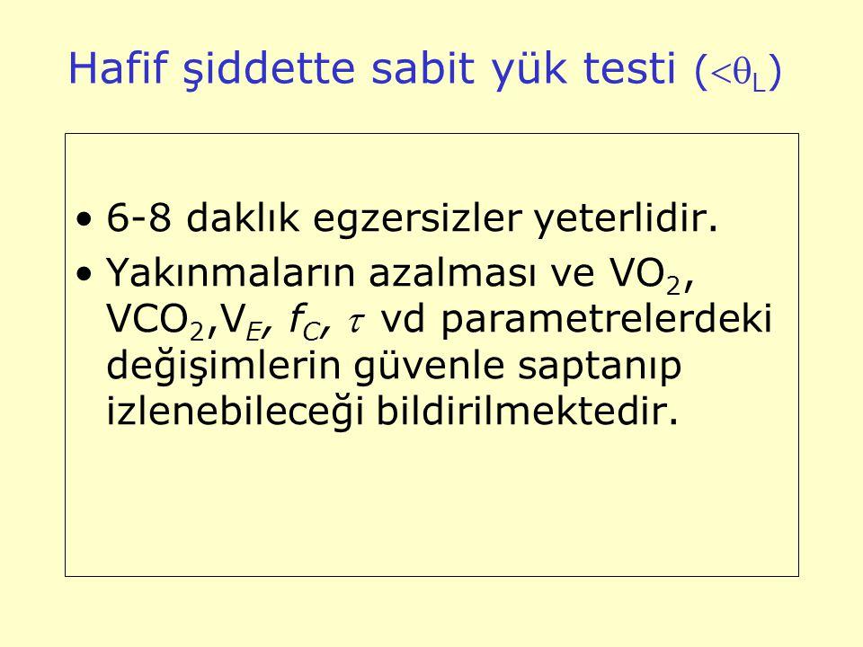 Hafif şiddette sabit yük testi (L)