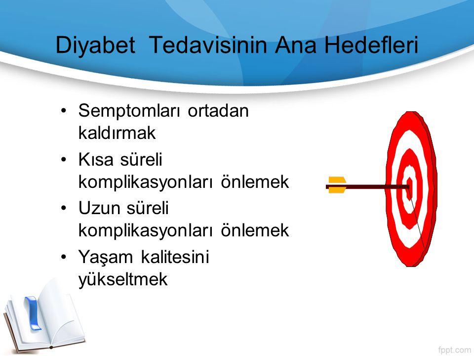 Diyabet Tedavisinin Ana Hedefleri