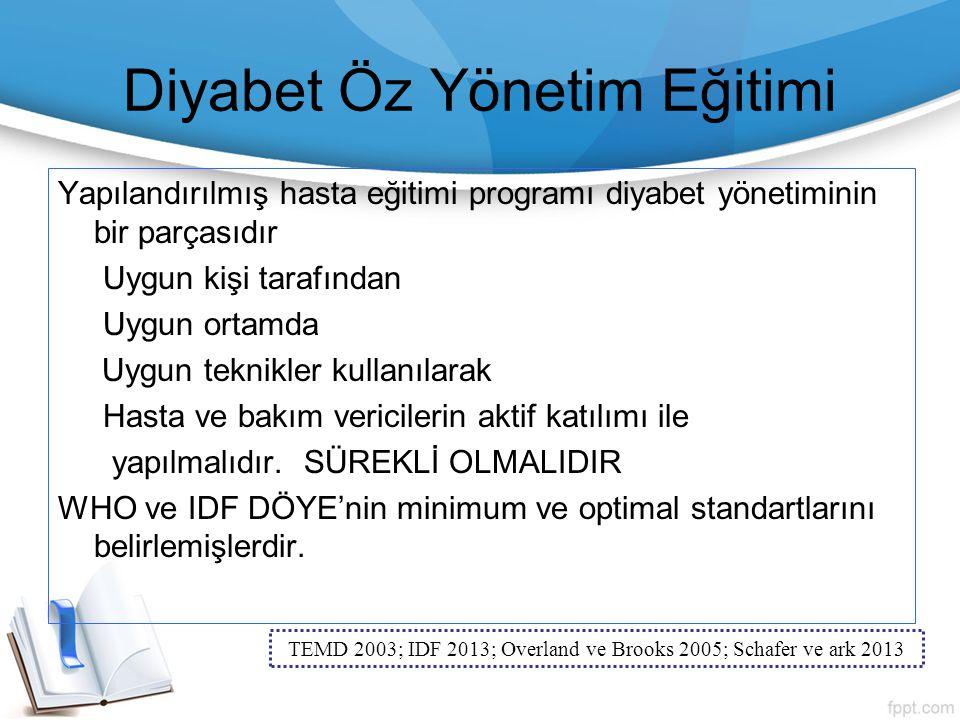 Diyabet Öz Yönetim Eğitimi