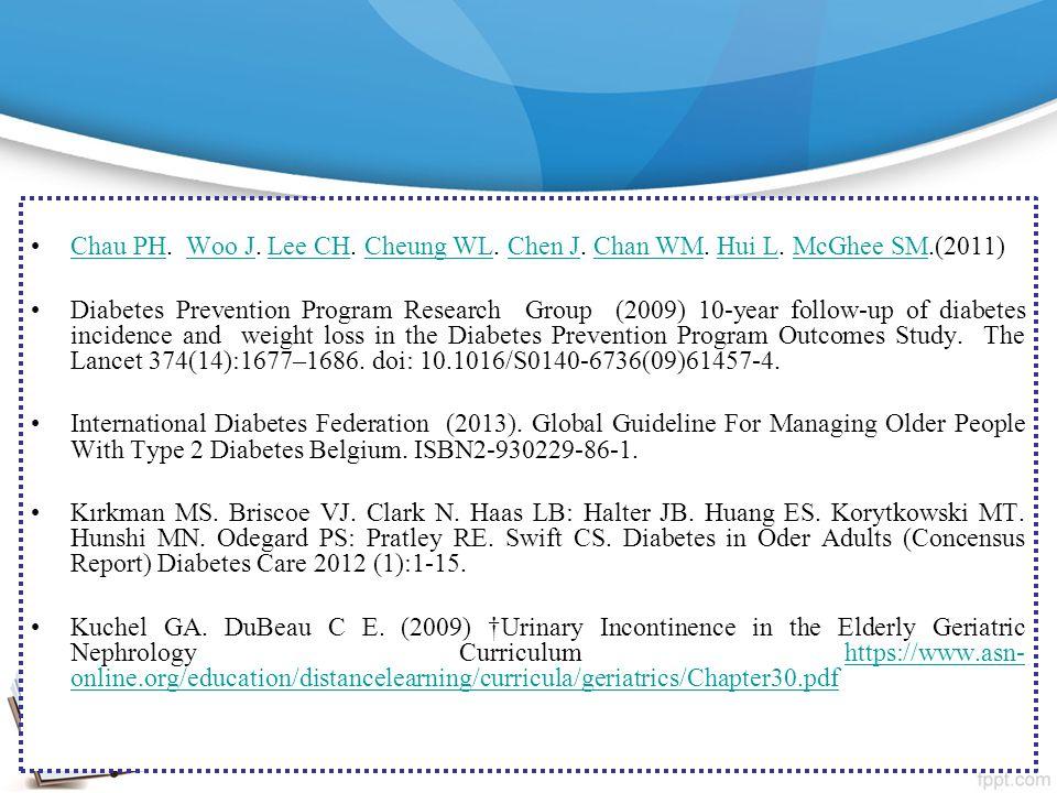 Chau PH. Woo J. Lee CH. Cheung WL. Chen J. Chan WM. Hui L. McGhee SM