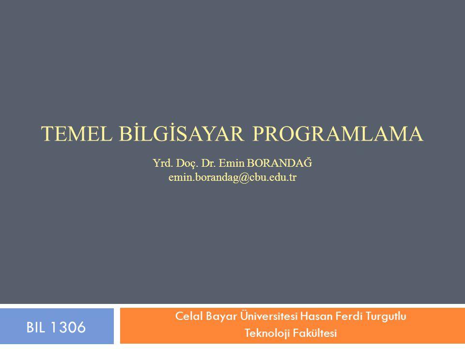 Celal Bayar Üniversitesi Hasan Ferdi Turgutlu Teknoloji Fakültesi