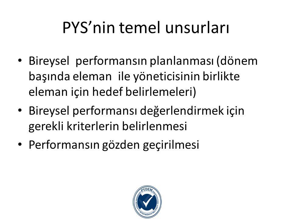 PYS'nin temel unsurları