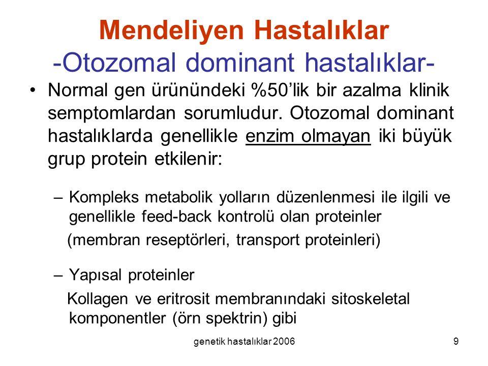 Mendeliyen Hastalıklar -Otozomal dominant hastalıklar-