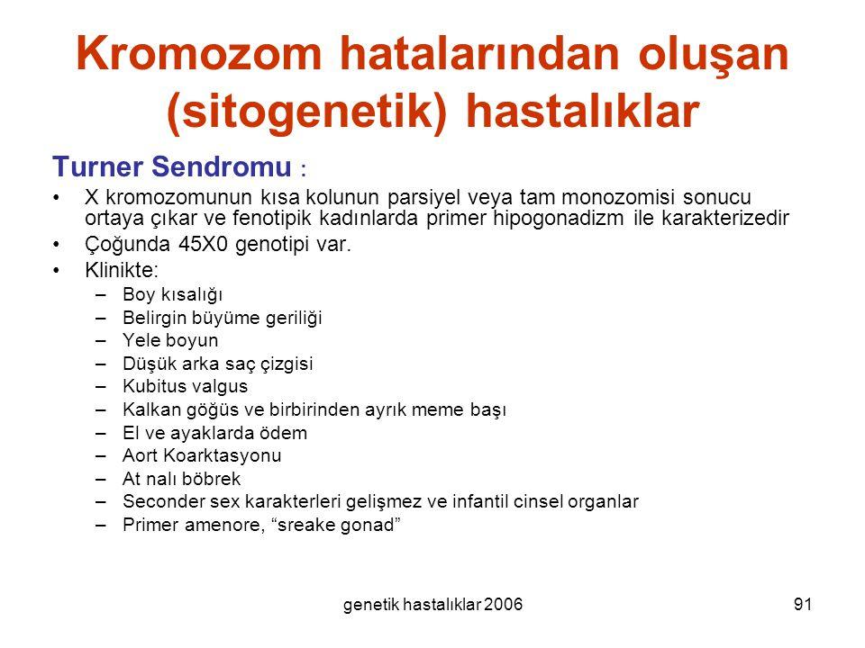 Kromozom hatalarından oluşan (sitogenetik) hastalıklar