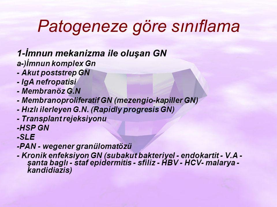 Patogeneze göre sınıflama