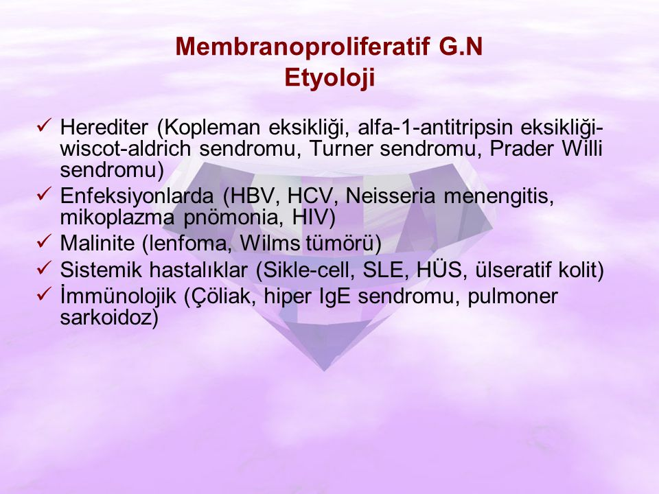 Membranoproliferatif G.N Etyoloji