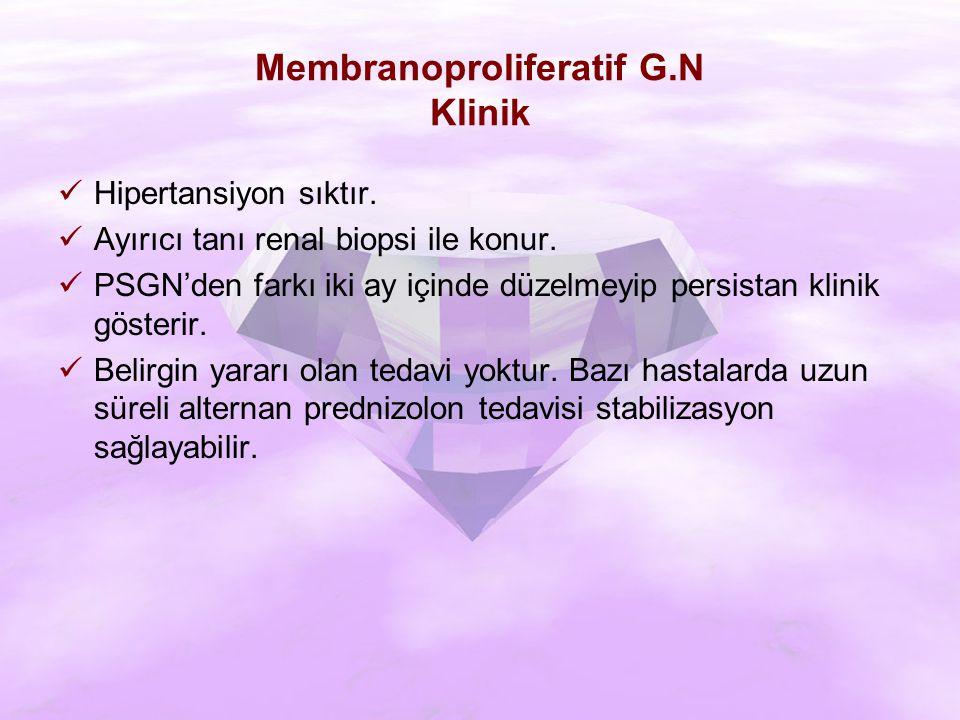 Membranoproliferatif G.N Klinik