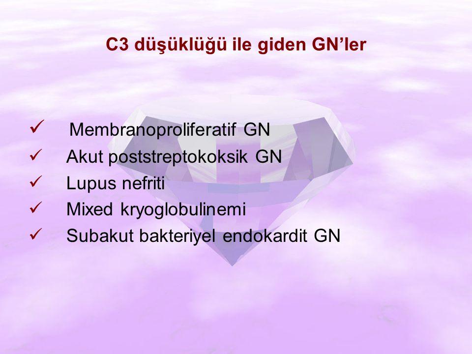 C3 düşüklüğü ile giden GN'ler