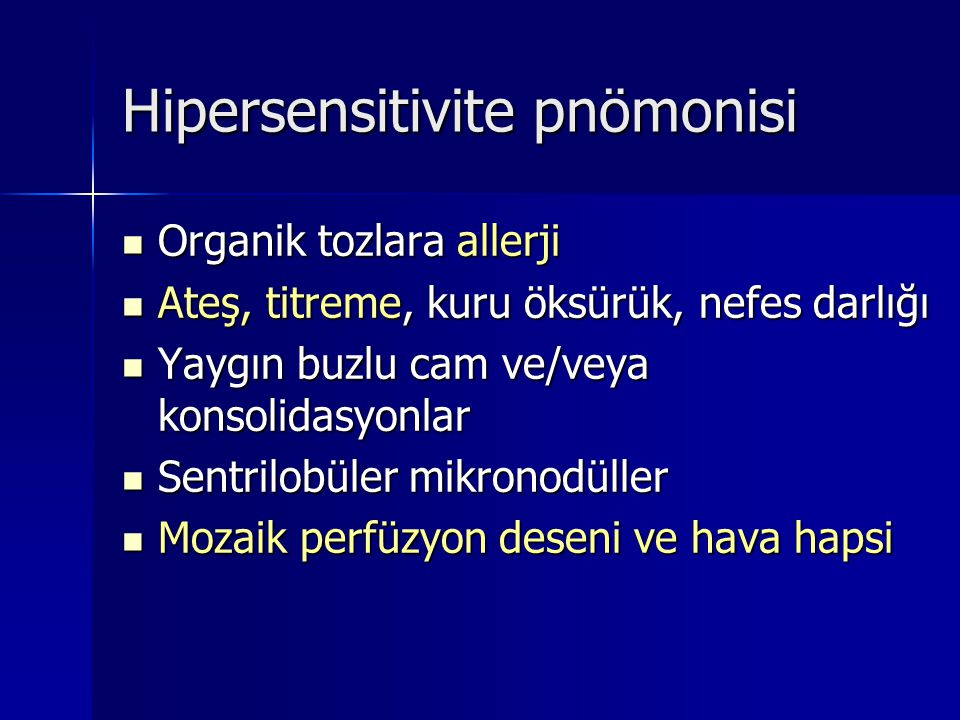 Hipersensitivite pnömonisi