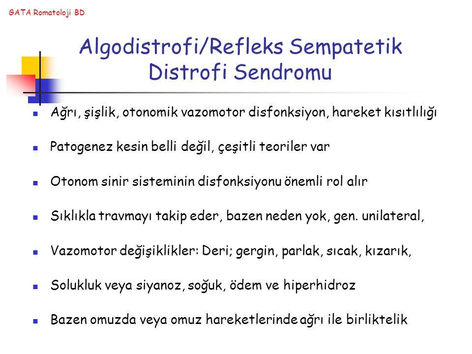 Algodistrofi/Refleks Sempatetik Distrofi Sendromu