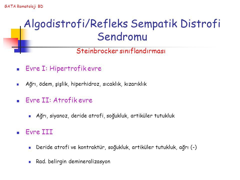 Algodistrofi/Refleks Sempatik Distrofi Sendromu