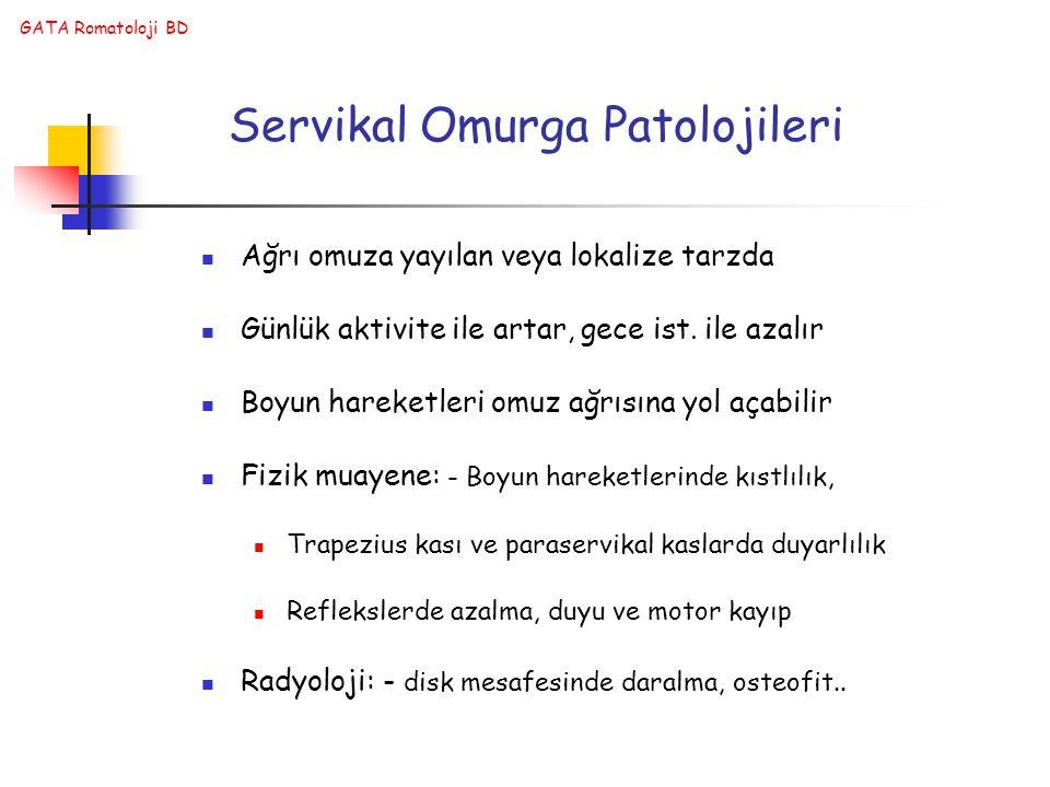 Servikal Omurga Patolojileri