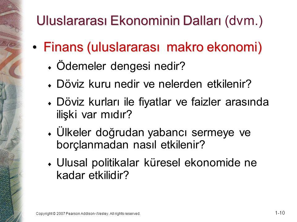 Uluslararası Ekonominin Dalları (dvm.)