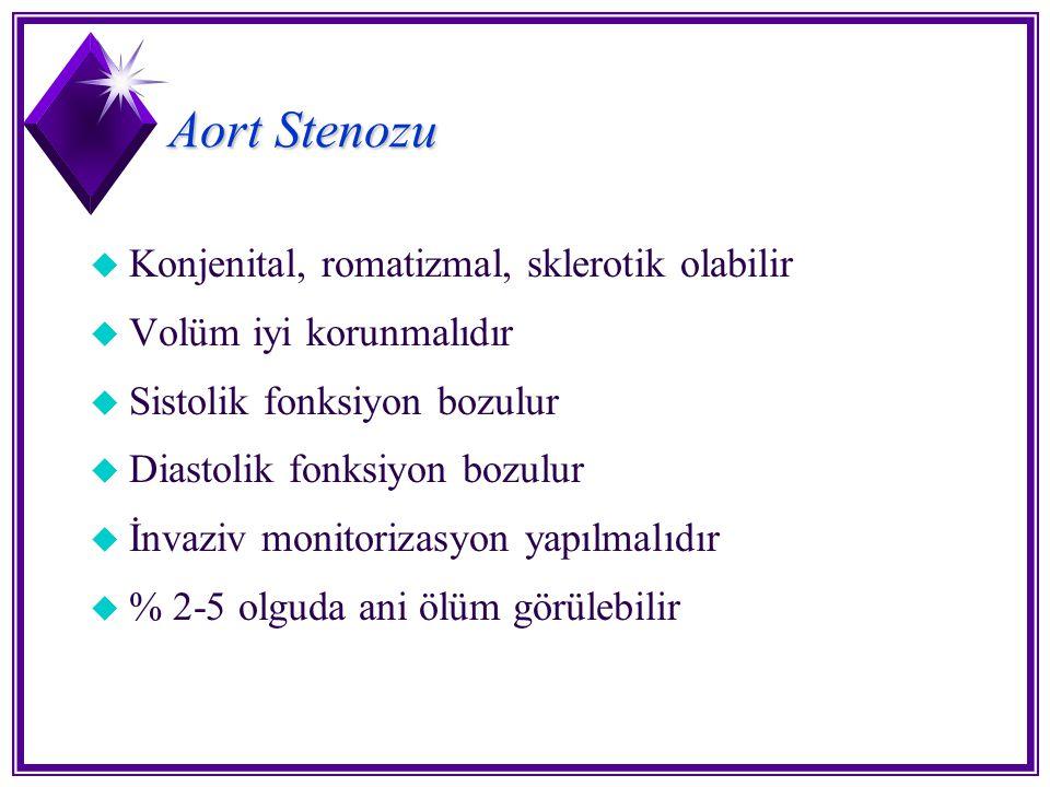Aort Stenozu Konjenital, romatizmal, sklerotik olabilir