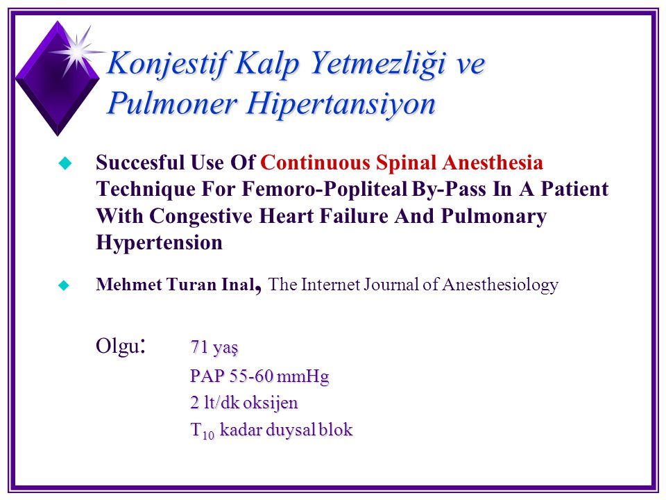 Konjestif Kalp Yetmezliği ve Pulmoner Hipertansiyon