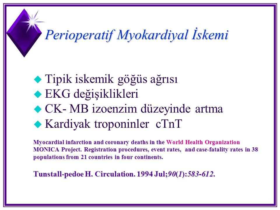 Perioperatif Myokardiyal İskemi